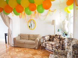 bright balloons and streamers for party decorations