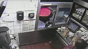 mcdonald s employee jumps through drive thru window to help mcdonald s employee jumps through drive thru window to help