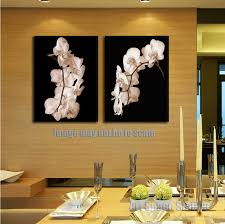 oil painting hd picture print home decor black and white orchid flowers poster wall art on on white orchid framed wall art with oil painting hd picture print home decor black and white orchid