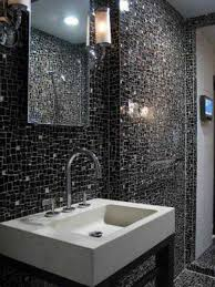 bathroom mosaic tile designs. Beautiful And Simple Designs Mosaic Tiles With Dramatic Black Design Floating Sink As Well Lighting On The Wall Beside Mirror Bathroom Tile -
