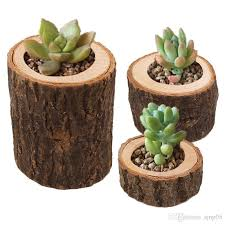 rustic vintage wooden plant pots small round wood planter candle holder flower succulent potted pots new home decorative canada 2019 from sjnp05