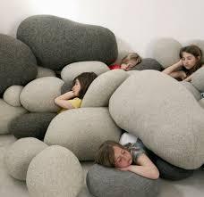 ... felt stone rugs martina schumann austria how to make rocks felted  pillows stones sched lisa jordan ...
