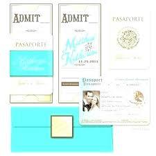 Diy Invitation Template Passport Invitation Template Destination Ing Invitations