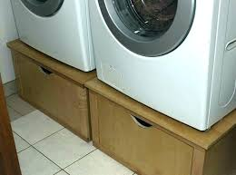 pedestal washer dryer stand up set for and view in gallery stacked washer and dryer entryway closet stand