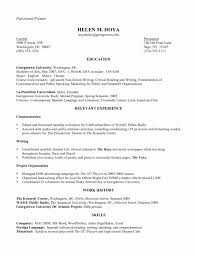 Combination Resume Formats Combination Resume Template Free New Bination Resume