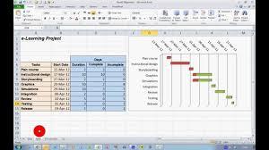 How To Create Progress Gantt Chart In Excel Youtube