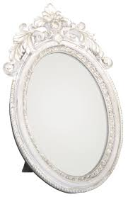 antique oval mirror frame. Antique Style Ornate Oval Freestanding Dressing Table Mirror White And Gold Frame 24Cm X 16Cm: Amazon.co.uk: Kitchen \u0026 Home P