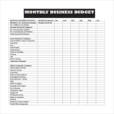 Business Budget Template Template Business
