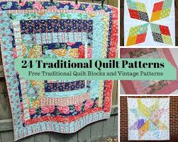24 Traditional Quilt Patterns: Free Traditional Quilt Blocks and ... & 24 Traditional Quilt Patterns: Free Traditional Quilt Blocks and Vintage  Patterns Adamdwight.com