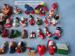 35 Alte Holzfiguren Christbaumschmuck Weihnachten Figuren