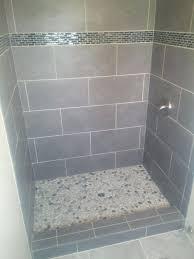 bathroom glass floor tiles. Glass Tile Shower Floor Tiles Interesting Slate Grey Effect Bathroom .