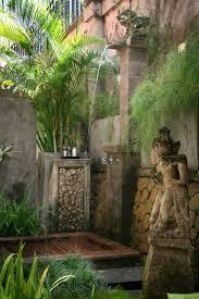 Tropical outdoor shower ~ Villa Des Indes