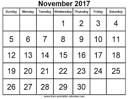 free printable calendars for free download november 2017