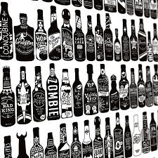 stylish inspiration beer wall art home wallpaper 99 bottles of on the print by run for hills close up cap bottle can box coaster metal