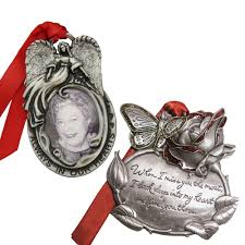 gloria duchin angel frame and rose memorial ornament set