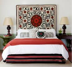 wall rug in the bedroom