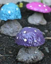diy concrete mushroom