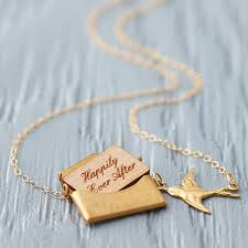 original mini gold personalised love letter necklace