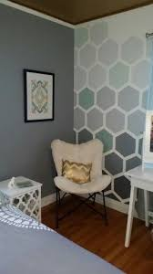 How To Tape & Paint Hexagon Patterned Wall | Graphic wall, Ombre and  Stenciling