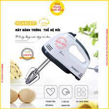 Máy đánh trứng cầm tay SCARLETT Có 7 Cấp Độ có thể trộn bột và làm kem mini  Công Suất 180W - Máy xay, máy ép