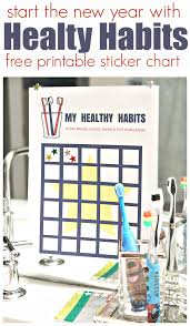 Chart On Healthy Habits Healthy Habits Challenge And Free Printable Sticker Chart