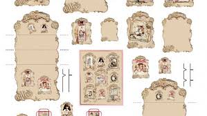 dollhouse miniature asian wallpaper