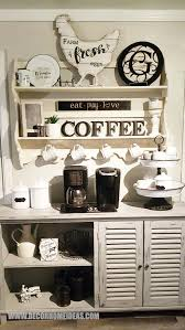 Great tips on repurposed furniture. 101 Best Diy Coffee Station Ideas For All Coffee Lovers Decor Home Ideas