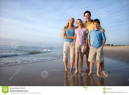Family Beach Photos Smiling Family On Beach Stock Images Image 2038224