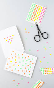 spotted dotted diy cards using basic circle stickers from an office supply you can create a fun card like what you see above with a simple l