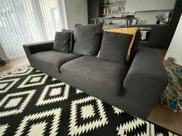 seater sofa couch charcoal grey
