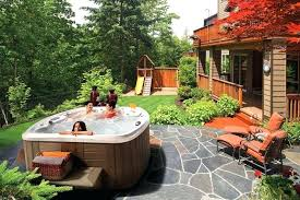 stunning small backyard above ground pool ideas with hot tub google search swim spa landscaping