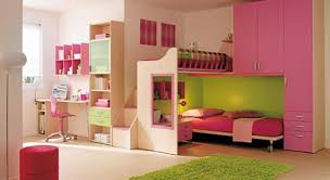 Cool Pink Bedroom With Girl Furniture Girls Kids