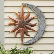 absolutely exterior wall art decorative outdoor awesome sun and moon indoor metal idea for house uk design australium nz painting