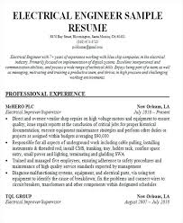 Electrical Engineering Sample Resumes Resume Format For Engineering Freshers Penza Poisk