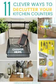 kitchen counter. Clever Ways To Declutter Kitchen Countertops And Keep Them Organized /  Grillo Designs Www.grillo Counter