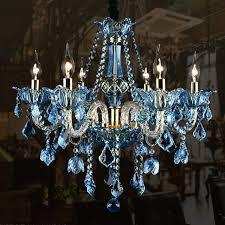 blue crystal chandelier led alloy blue crystal chandelier lighting led lamp led small blue crystal chandelier