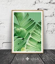 leaf print printable wall decor tropical modern