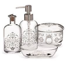 clear glass bathroom accessories. bathroom: exquisite closeout hotel collection glass bath accessories at bathroom sets from clear s