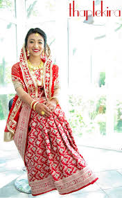 Kurta Designs In Nepal Nepali Bride Ghumti Wedding Jewelry Banarasi Silk Saree