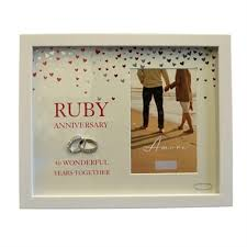 ruby anniversary photo frame