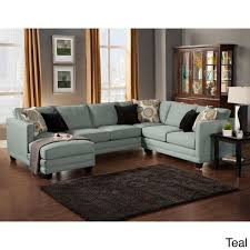 furniture of america zeal lavish contemporary 3 piece fabric upholstered sectional