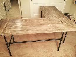 homemade office desk. corner industrial pipe desk by vince homemade office