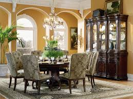 grandeur 5 piece 72 round dining table set in cherry ash burl finish by furniture