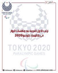 بالإنفوجراف  ترتيب الدول العربية بعد منافسات اليوم في بارالمبياد طوكيو 2020  - موقع الأمصار