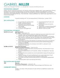 Pharmacy Resume Samples Pharmacy Resume Examples Under Fontanacountryinn Com