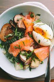 A smoked salmon potato bake is perfect for dinner parties or something a little different for sunday dinner. Smoked Salmon Breakfast Bowl With A 6 Minute Egg A Thought For Food Smoked Salmon Breakfast Salmon Breakfast Healthy Recipes