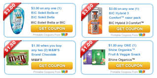 Today's Top New Coupons - Savings from M&M's, BIC Razors, Quilted ... & Printable Coupons for Today Adamdwight.com