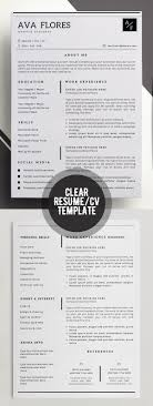 best minimal resume templates design graphic design junction 50 best minimal resume templates 6