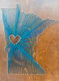 Make State-Themed String Art | string art | Pinterest | String art ...