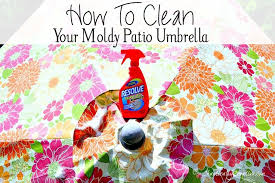 how to clean a moldy patio umbrella